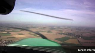 preview picture of video 'My first international flight (EBSP EDLN) with ATC transcripts'