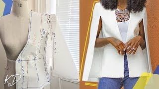 CAPE BLAZER PATTERN TUTORIAL | KIM DAVE
