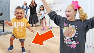 JOJO SIWA TEACHES JAYDEN HOW TO WALK FOR THE FIRST TIME!