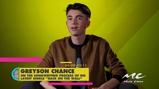 "Greyson Chance on Writing ""Back on the Wall"""