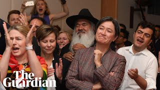 LGBT politician weeps with joy at Australia's same-sex marriage vote