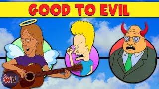 Beavis and Butthead Characters: Good to Evil