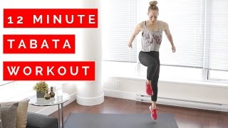 12 Minute Tabata Workout – No Equipment!