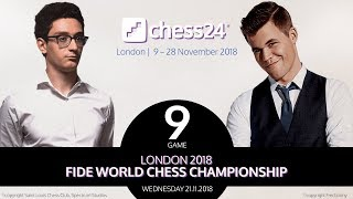 Carlsen-Caruana Game 9 - 2018 FIDE World Chess Championship