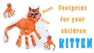 Drawing A Cat | Craft | Handprint | Footprint | Рисование ладошками | Рисование ступнями