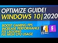 How To Optimize Windows 10 For Gaming & Performance In 2020