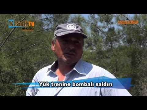 Osmaniye'de yük trenine bombalı saldırı