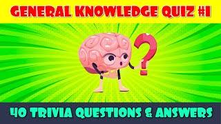 General Knowledge Quiz #1 | Trivia Quiz | Pub Quiz | 40 Pub Quiz Trivia Questions & Answers