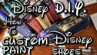 Disney DIY | How To Custom Paint Shoes Disney: Disneylands Sleeping Beauty Castle