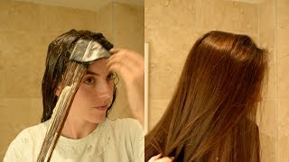 HOW TO : DYE LONG HAIR AT HOME.