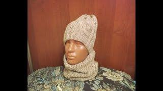 Очень простой комплект шапка и хомут...