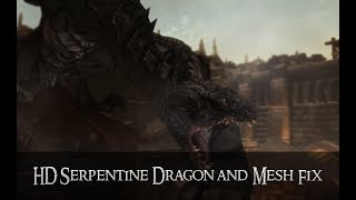 HD Serpentine Dragon and Mesh Fix - A Skyrim Texture Mod