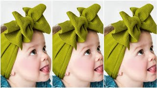 Tie Knot Headbands For Babies | Cotton Bow Headbands For Babies | Fabric Headbands | DIY Headbands