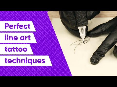 How to practice a perfect Line Art Tattoo - Tattooing for beginners