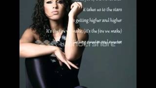 Alicia Keys ft Maxwell - Fire we make ( lyrics on screen )