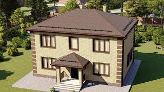 Проект дома 188-A, Площадь дома: 188 м2, Размер дома:  12,1x9 м
