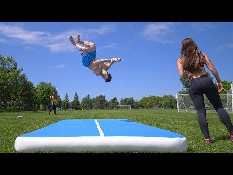 "Amazon ""Knock-Off"" Airtrack for Flips and Gymnastics Review"