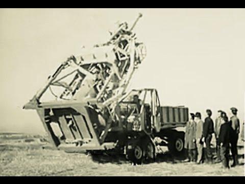 Передвижной копатель шахтных колодцев 1985 год