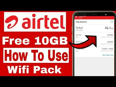 || Airtel Free!10GB Wifi Pack For All Airtel Users || Technical Dinesh jogi