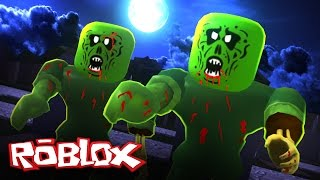 roblox halloween haunted cemetery obby escape the giant evil zombie