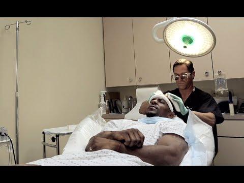 Dr. Glenn M. Charles works with Formal NFL player Erik Coleman
