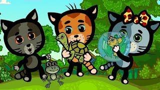 Развивающие и обучающие песенки - Три котенка: Прыгать и скакать - теремок песенки для детей