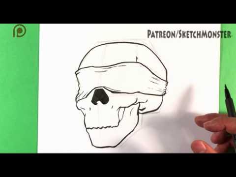 How to Draw Birdbox Skull - Step by Step Drawing for Beginners - Draw Tattoo Art