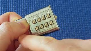 (Picking 2) Push-button combination padlock easily picked (decoded)