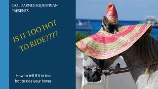 Is it too hot to ride my horse??