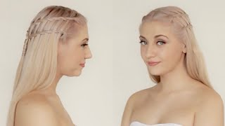 Quick & Easy Waterfall Braids, Learn Ladder Braids, Beautiful Plaited Hairstyles