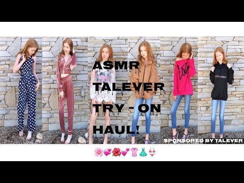 ASMR~ Talever Clothing Try-On Haul! 👚👗👖