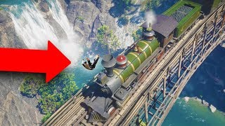 THE GREATEST TRAIN ROBBERY EVER! *THROWN OFF BRIDGE!* | RED DEAD REDEMPTION 2 OUTLAW LIFE #6