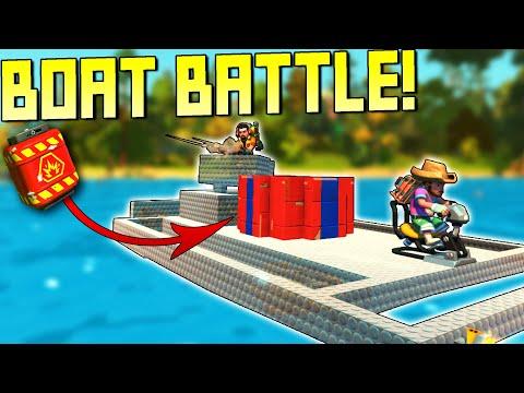 Team Boat Battle with Explosive Cores!  - Scrap Mechanic Multiplayer Monday