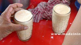 How to Make a Banana Milkshake | ROAD SIDE JUICE CENTER street food