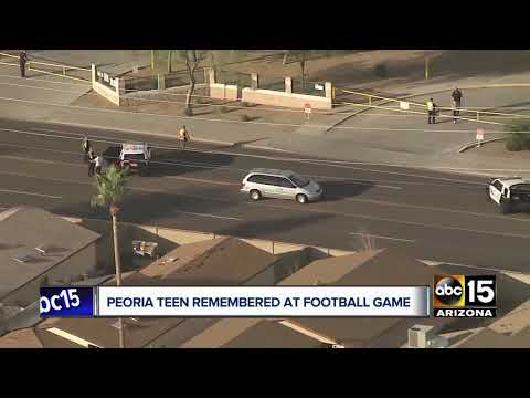 Peoria teen remembered at football game