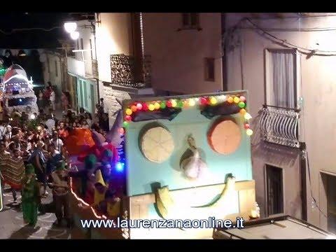 Preview video Video Carnevale Estivo sfilata maschere e carri 2019 (dalla diretta streaming) Laurenzana 17 agosto 2019
