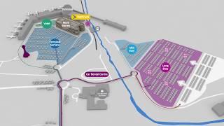 Edinburgh Airport 3D Car Park Location  Map