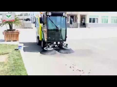 Xe quét rác mini 240l xe quét đường nhà máy resoft diesel và điện