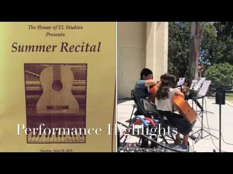 Summer 2019 Recital for both Piano and Guitar Students