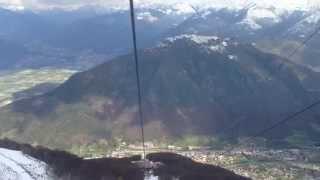 preview picture of video 'Funicular Monte Tamaro. Rivera. Switzerland.'