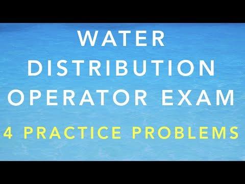 WATER DISTRIBUTION OPERATOR CERTIFICATION EXAM - 4 ...