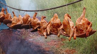 SMOKY Grilled Chicken in Village Style/Whole Chicken Roast Recipe without oven/food fun village