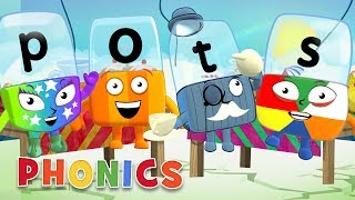 Phonics - Learn to Read | Four Letter Words! | Alphablocks