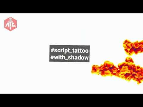Best script tattoo with shadow    Black N Grey
