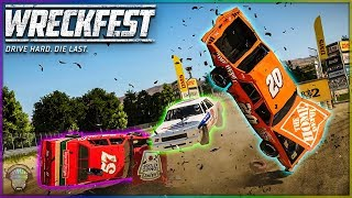 NASCAR Bonebreaker Valley!   Wreckfest   NASCAR Legends Mod