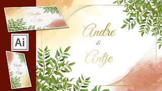 How To Design A Wedding Invitation Card In Adobe Illustrator