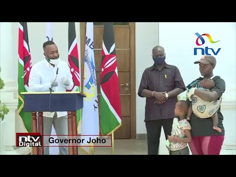 Governor Joho gives woman spotted with 'plastic face mask' KSh 100,000