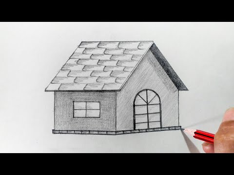 How to draw a Hut step by step (very easy)
