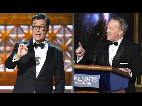 Emmys 2017: Sean Spicer Makes Shocking Cameo During Stephen Colbert's Politically-Charged Monolog…