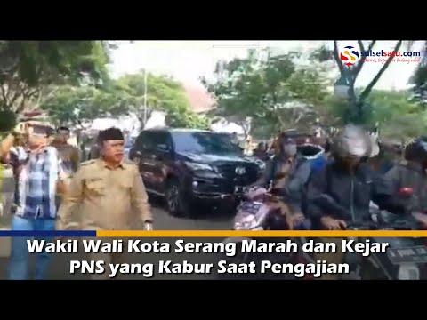 Wakil Wali Kota Serang Marah dan Kejar PNS yang Kabur Saat Pengajian